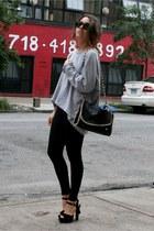 orli bag - GINA TRICOT sweater - Forever 21 leggings - Ray Ban sunglasses