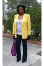 Yellow-vintage-worthington-blazer-white-walmart-t-shirt-blue-wet-seal-jeans-