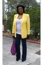 Yellow-vintage-worthington-blazer-white-walmart-t-shirt-blue-wet-seal-jeans-