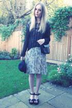 black H&M hat - Miss Selfridge dress - thrifted bag - thrifted jumper