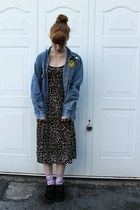Topshop dress - Ebay shoes - vintage jacket - Urban Outfitters socks