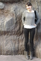 Express sweater - Not Rated boots - skinny jeans American Eagle jeans