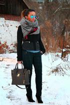 Aldo boots - Zara jacket - danier bag - Smartset pants
