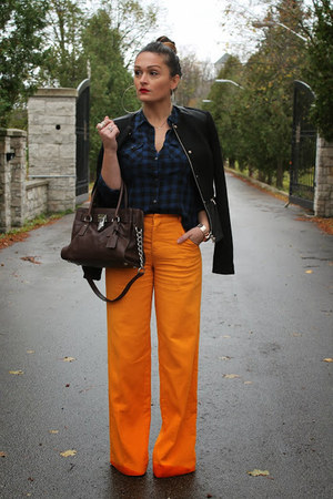 Zara jacket - Walmart shirt - Michael Kors bag - Zara pants