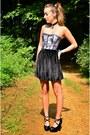 Silver-lace-corset-corset-story-top-black-velvet-skirt-american-apparel-skirt