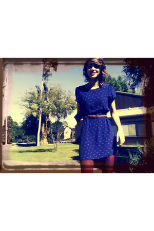 navy bow print dress Forever21 dress