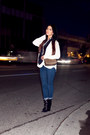 Black-booties-barbara-bui-boots-denim-j-brand-jeans-scarf-burberry-scarf