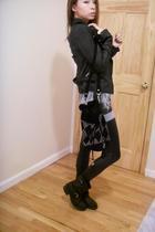 jacket - Zara top - Forever21 leggings - Topshop accessories - Frye shoes