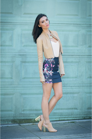 Nasty Gal skirt - Twin-Set Simona jacket - Kelsi Dagger sandals