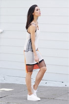 Helmut Lang dress - Zara flats - larissa ring VKCollection ring