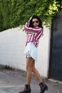 Cowboy-ariat-boots-striped-zara-jacket-gina-tricot-blouse