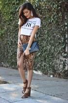 Zara skirt - clutch bcbg max azria bag - Love Stylize bracelet