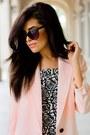 Light-pink-smythe-blazer-white-forever21-dress-black-strappy-zara-heels