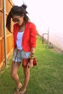 H-m-blazer-belted-gina-tricot-shorts-aviators-lindex-sunglasses-cropped-we