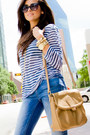 Violet-stripe-shirt-nm-luxury-essentials-shirt-denim-zara-jeans
