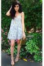 White-floral-print-luna-b-dress-sequin-clutch-society-of-chic-bag