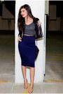 Black-leather-jacket-forever21-jacket-navy-pencil-skirt-love-skirt