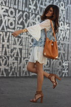 white Alloy Apparel dress - bronze just fab bag