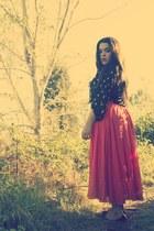 maxi skirt Thrift Store skirt - francescas top - H&M flats