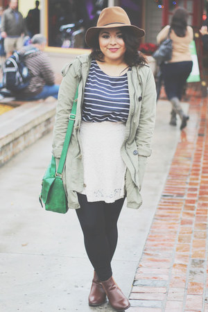 Target hat - Urban Outfitters boots - Gap jacket - H&M top - H&M skirt