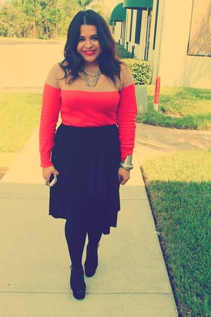 Target sweater - Steve Madden wedges - Urban Outfitters skirt