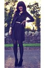 Deep-purple-skater-primark-dress-black-biker-bershka-jacket