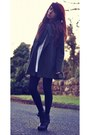 Black-forever-21-boots-white-galaxy-collar-sister-jane-dress