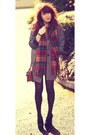 Oversized-new-look-coat-heart-print-primark-shirt-tartan-scotland-scarf