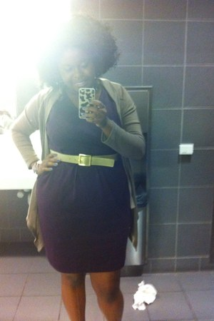 Target dress - JCPenney belt - DDs cardigan