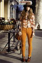 mustard H&M pants