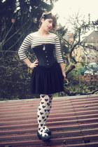 white H&M tights - black Primark skirt