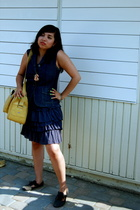 Theory vest - Topshop dress - purse - UO shoes