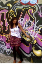my lil bros - belt - kimichi & blue skirt - Chanel purse