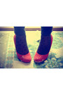 Camel-vintage-from-grandmother-sweater-red-urban-outfitters-shoes