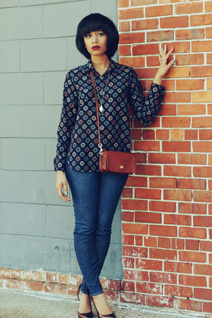 JCrew shirt - Miss Sixty jeans - coach purse