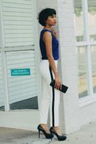 Zara shirt - Aqua pants - Zara heels