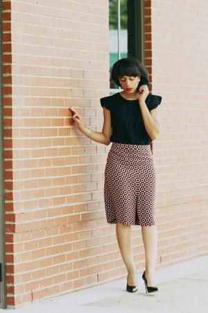 Zara shirt - J Crew skirt - Alexander Wang heels