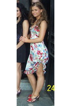 floral print Betsey Johnson dress - Bea B sandals