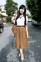 brown vintage skirt - diva accessories
