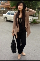 H&M blouse - Miss Selfridge jeans - Forever21 hat - c&k purse - Eclipse shoes