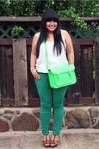 cambridge satchel co bag - Zara jeans - BCBGeneration sandals - Old Navy top
