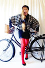 H-m-tights-vintage-dress-raleigh-bicycle-accessories-unknown-brand-coat