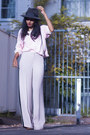 Light-pink-vintage-jumper-beige-topshop-pants