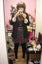 new look dress - new look blazer - barratts shoes - vintage cow belt