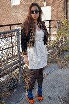 H&M jacket - dressen Jeffrey Campbelly Campbell shoes - Forever 21 dress