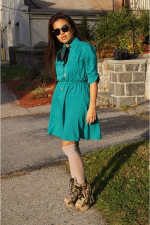 turquoise blue mod dress Forever 21 dress
