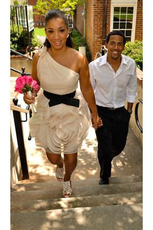 vera wang dress - Kelly & Katie shoes - express mens shirt