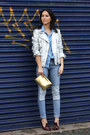 Gold-metallic-h-m-bag-patchwork-h-m-jeans-silver-metallic-zara-jacket
