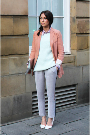 H&amp;M blazer - Zara bag - Ralph Lauren blouse - H&amp;M jumper - Zara heels