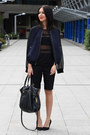 Sheer-h-m-top-navy-dogtooth-h-m-jacket-mulberry-bag-black-h-m-shorts